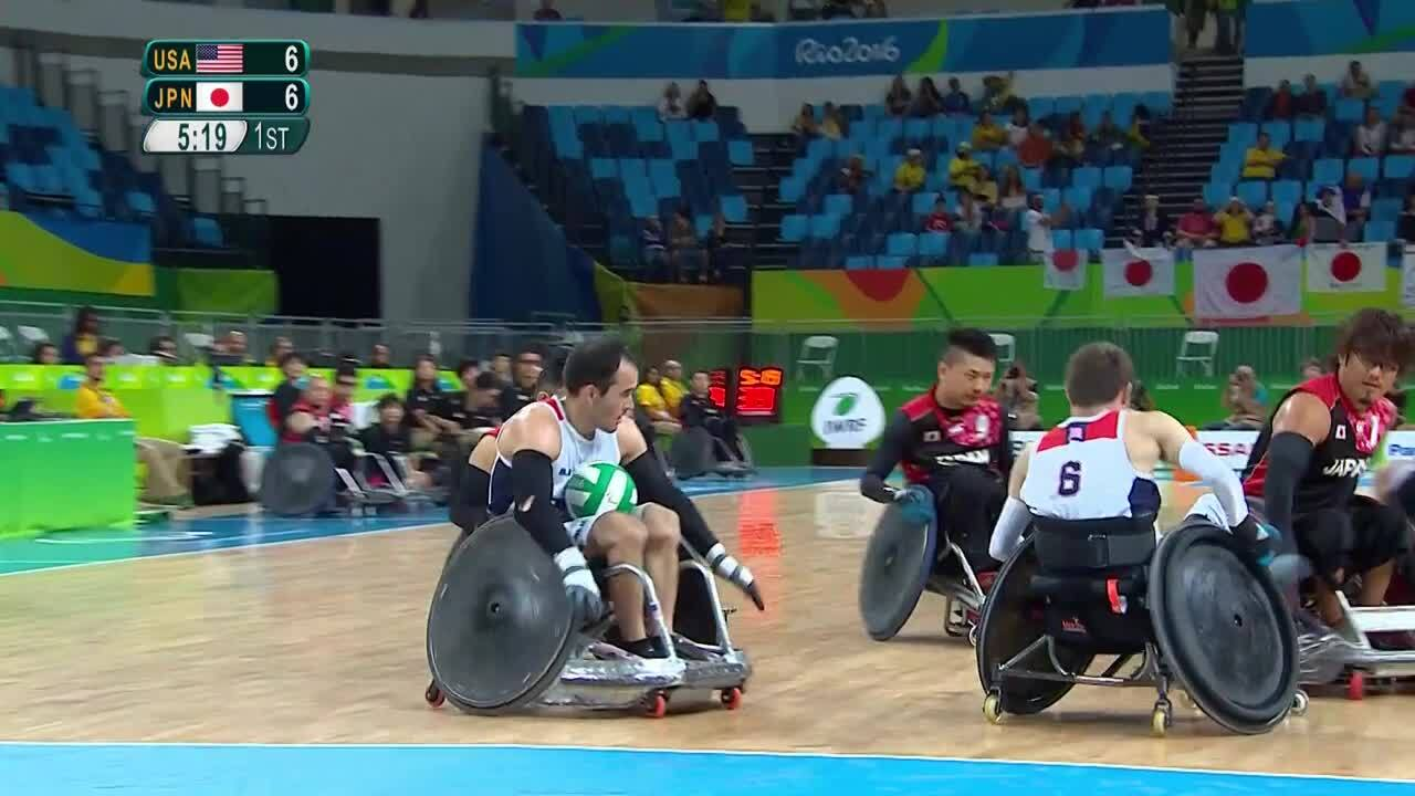 USA vs JPN Wheelchair Rugby