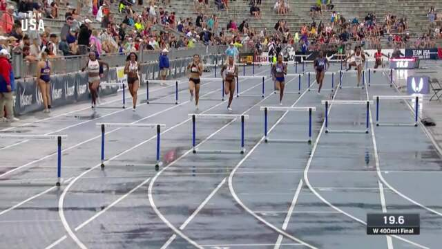 Dalilah Muhammad Breaks World Record In The Women's 400-meter Hurdles | Champions Series Presented By Xfinity