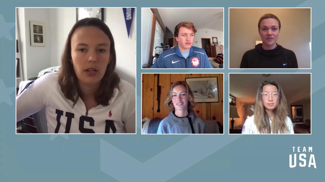 Nina Lussi, Grace Miller, Max Nelson, Logan Sankey  | Beijing 2022 Team USA Media Summit