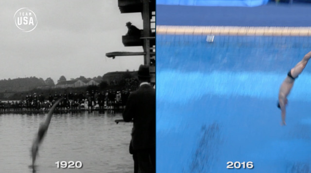 Then & Now: Diving