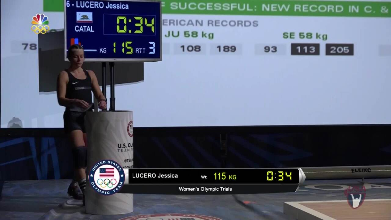 Jessica Lucero Breaks Her Third National Record At 58 kg.