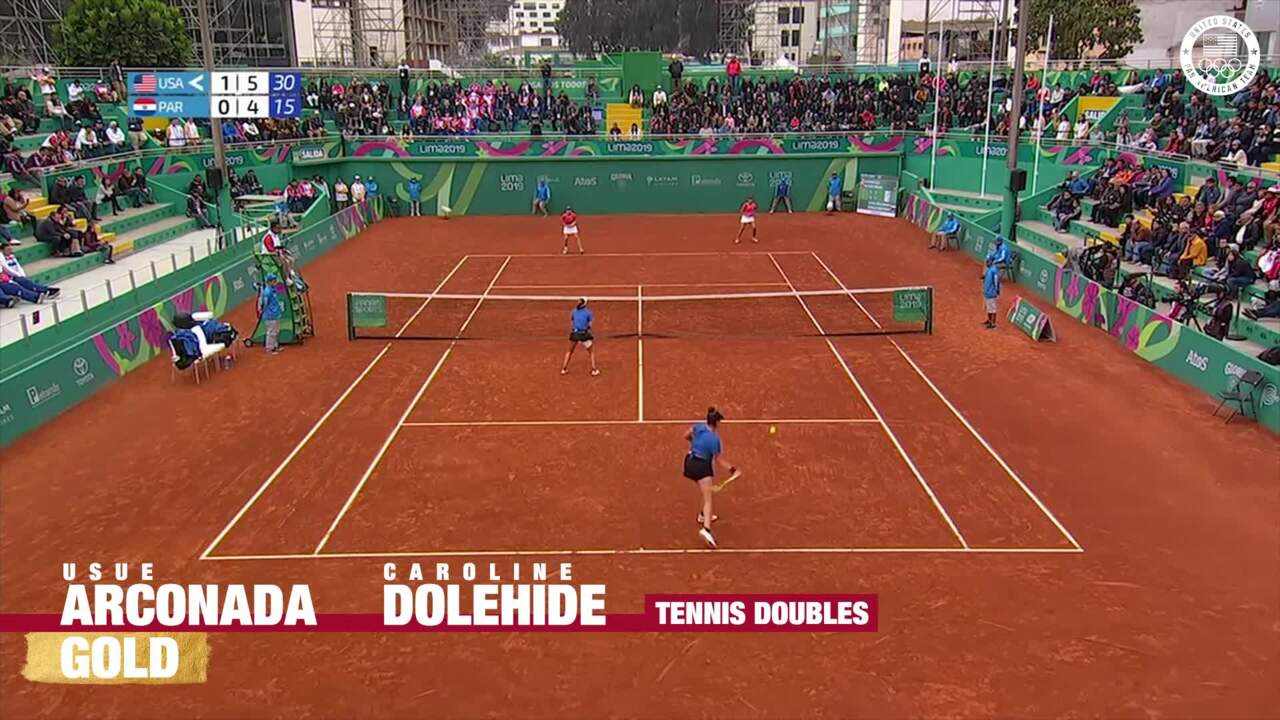 Usue Arconada & Caroline Dolehide Win Gold In The Women's Doubles | Pan American Games Lima 2019