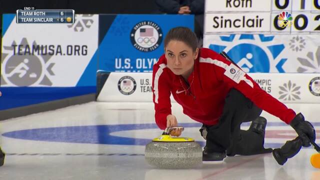 Olympic Curling Trials | Team Sinclair Strikes Back To Even The Score Against Team Roth