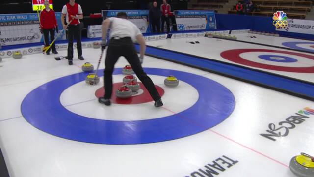 Olympic Mixed Doubles Curling Trials | Roth-Nernberger Score Five Against Carlson-McLean