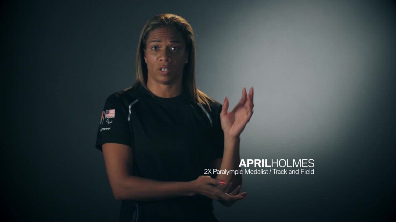 April Holmes: Hospital Bed to The Podium
