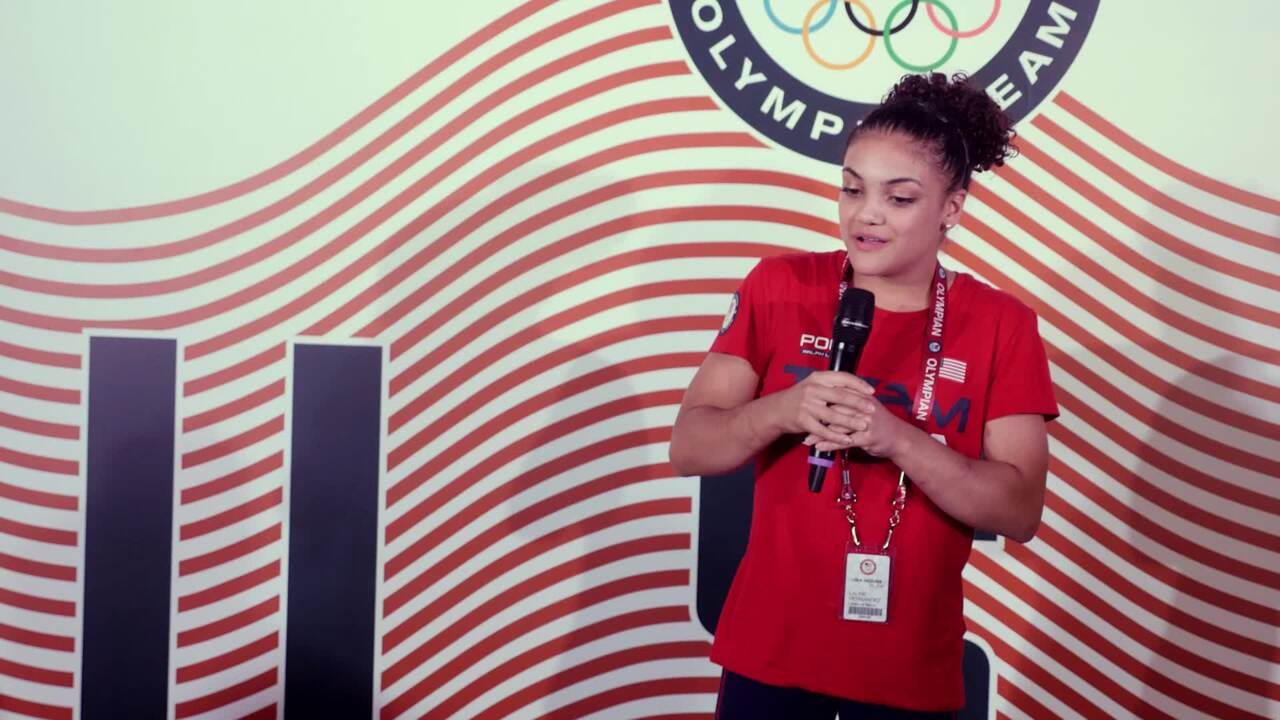 Laurie Hernandez Honors Her Parents