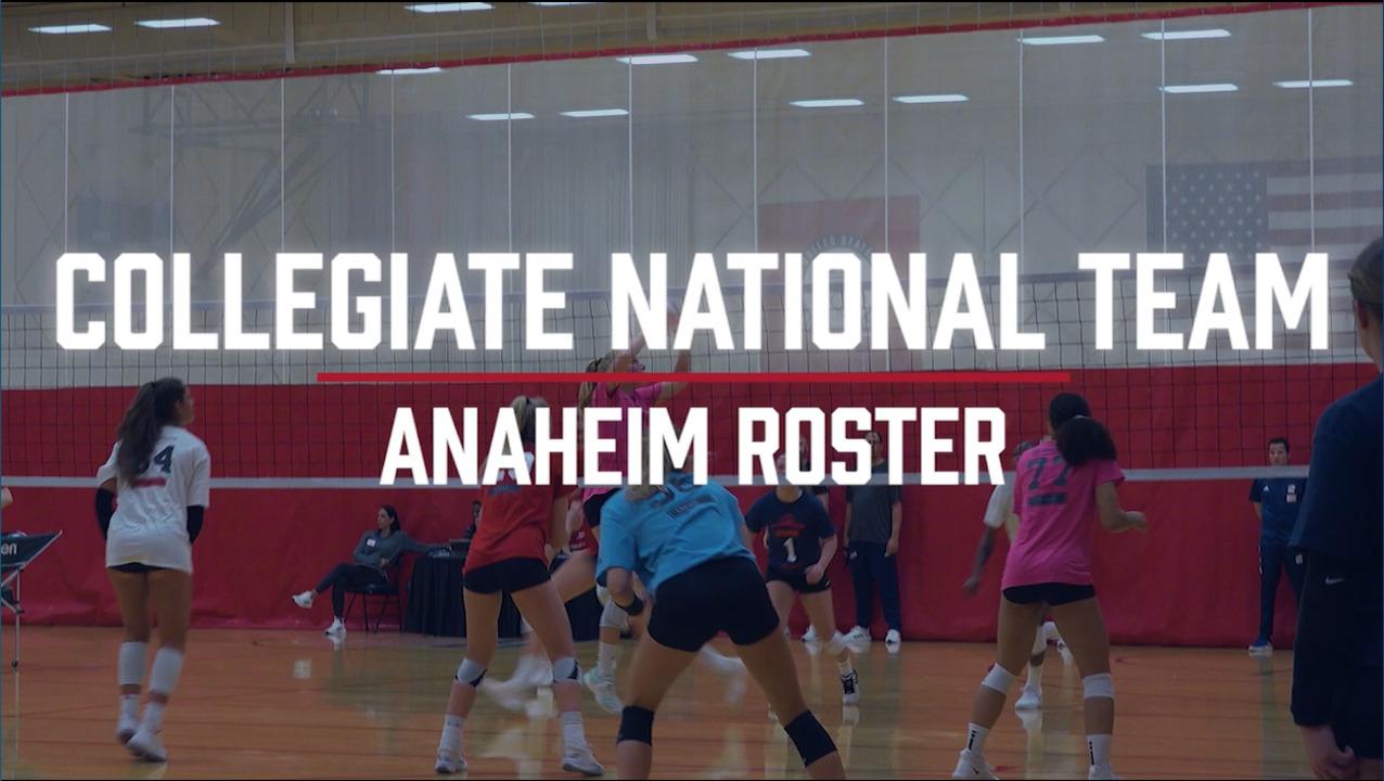 U.S. Women's Collegiate National Team | Anaheim Roster