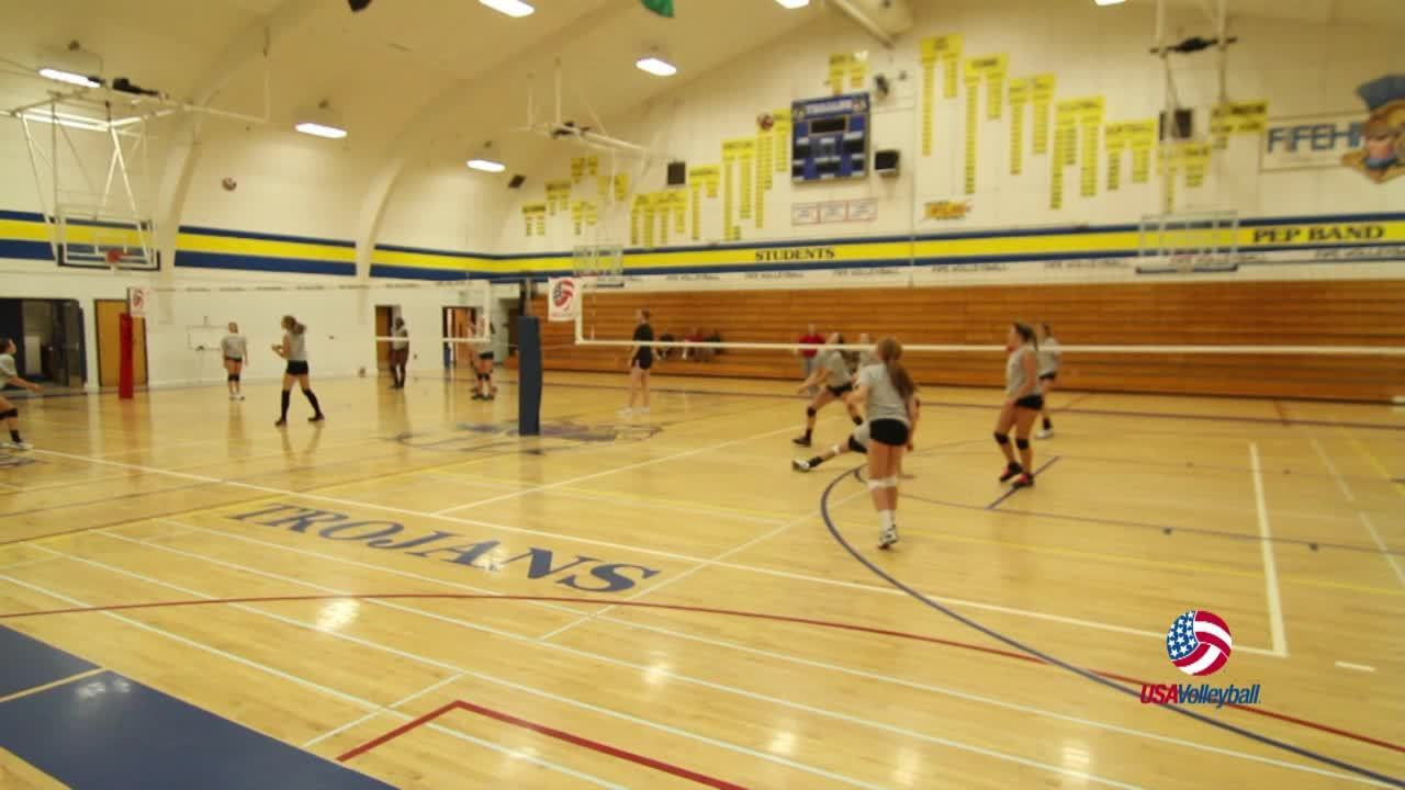 USAV Drill Video 3 on 3 Cooperative