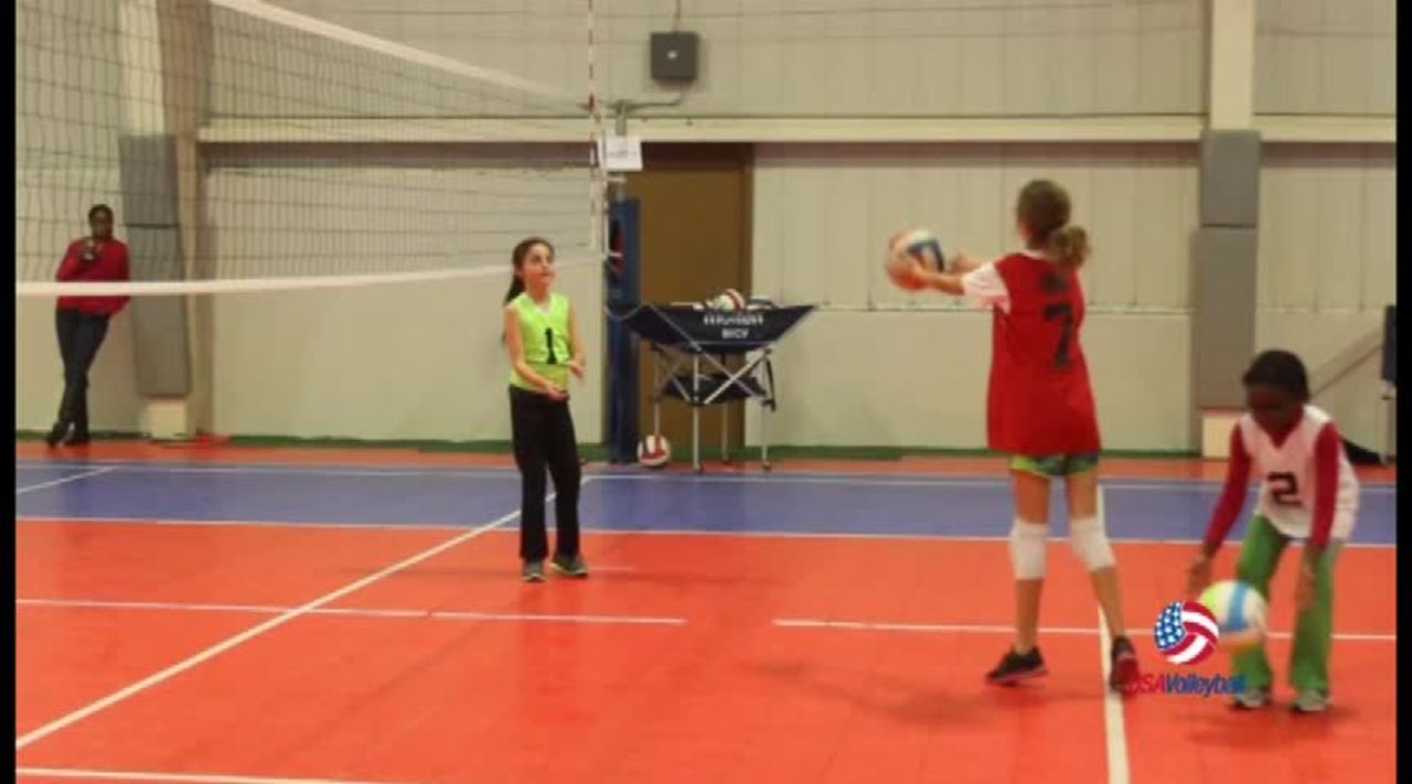 USAV Drill Video Pass Set Hit