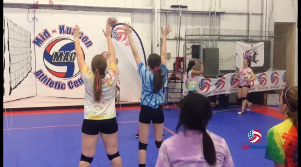 USAV Drill Video Loser Becomes the Net