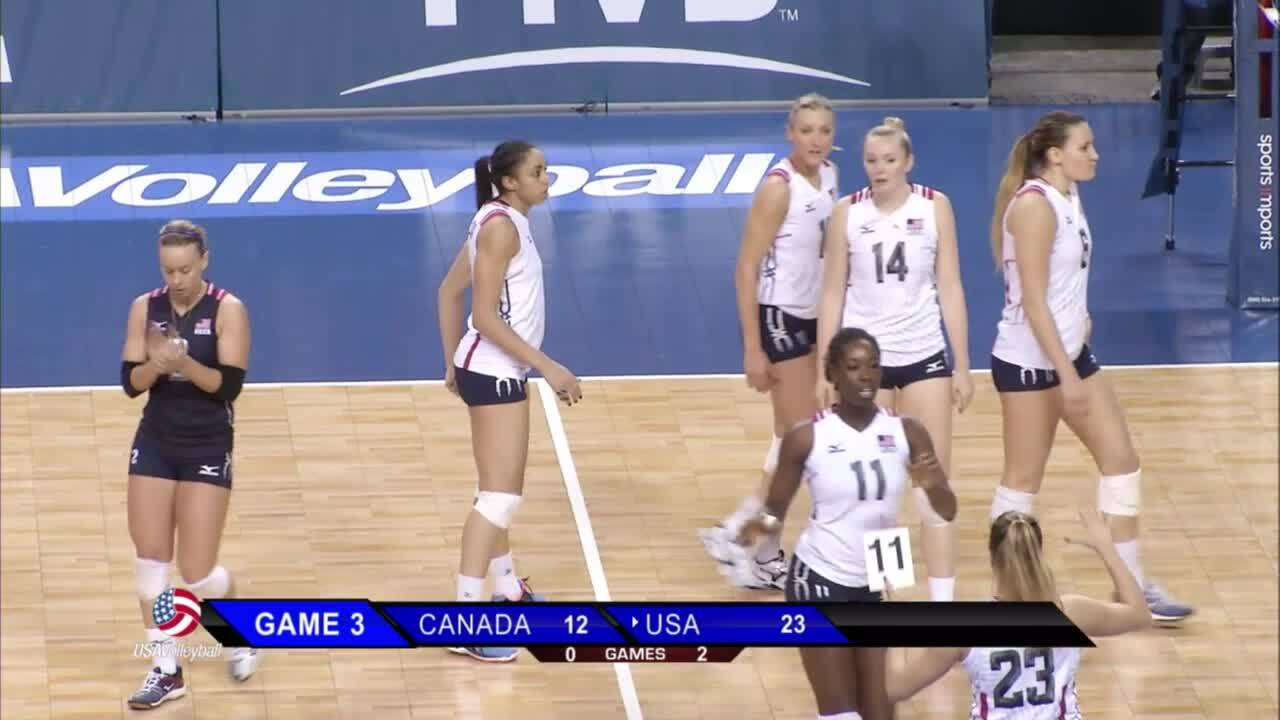 USA vs Canada 2016 NORCECA Olympic Qualifier   January 7