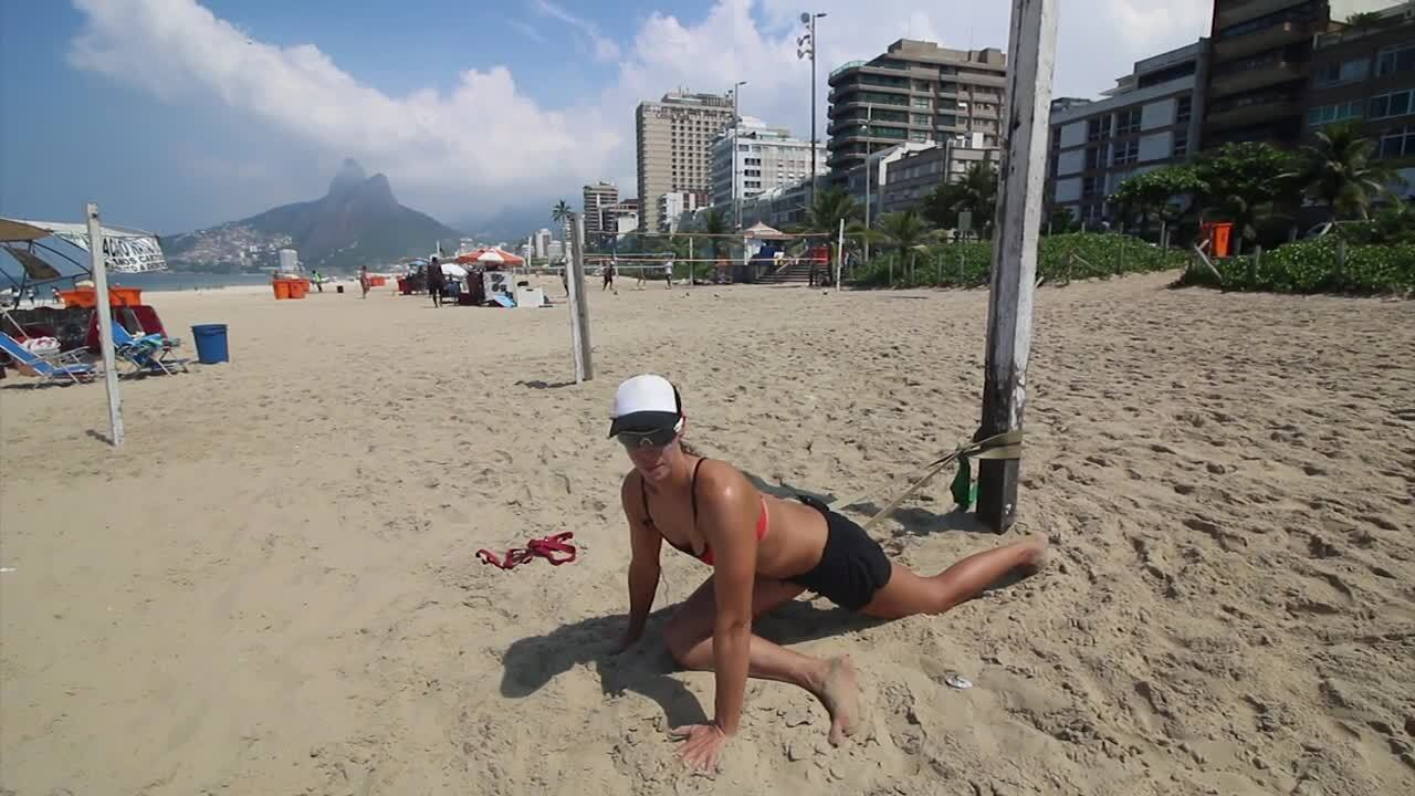 USAV Beach Tip Video - Gluteal Muscle Stretch
