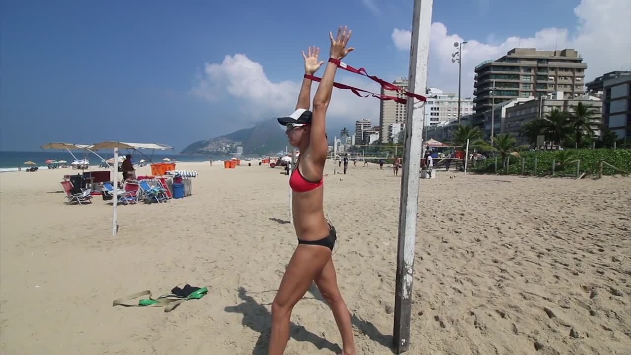 USAV Beach Tip Video - Pectoral Muscle Stretch
