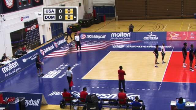 2017 NORCECA USA vs Dominican Republic