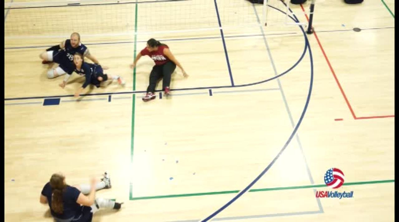 USAV Para Drill Video Lateral Movement Snake
