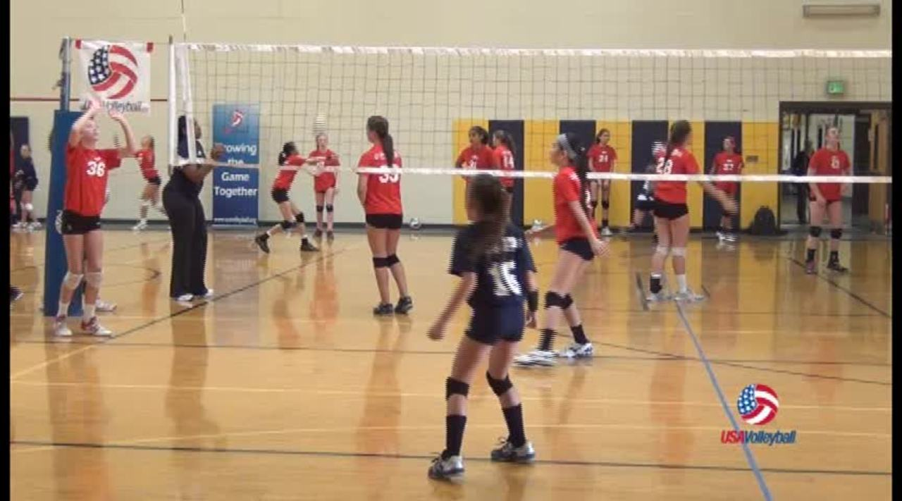USAV Drill Video Setting Triangle