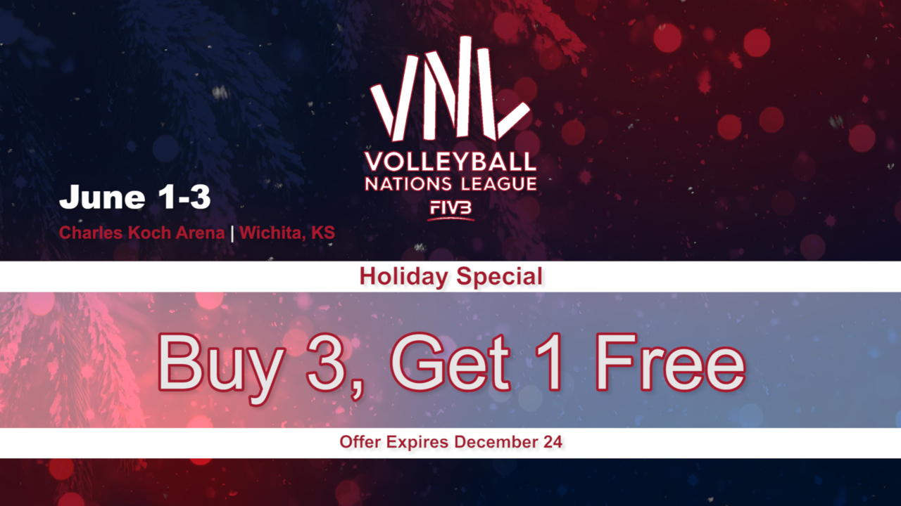 Women's VNL Ticket Holiday Special