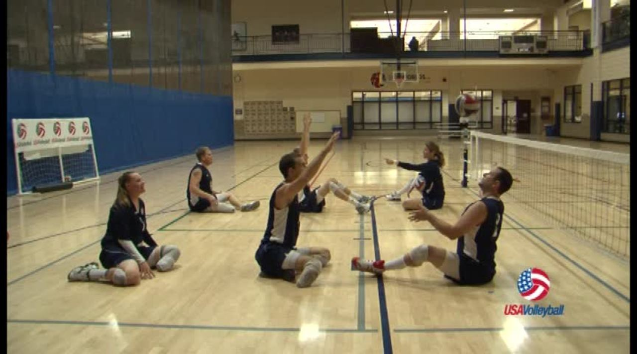 USAV Para Drill Video Loser Becomes the Net