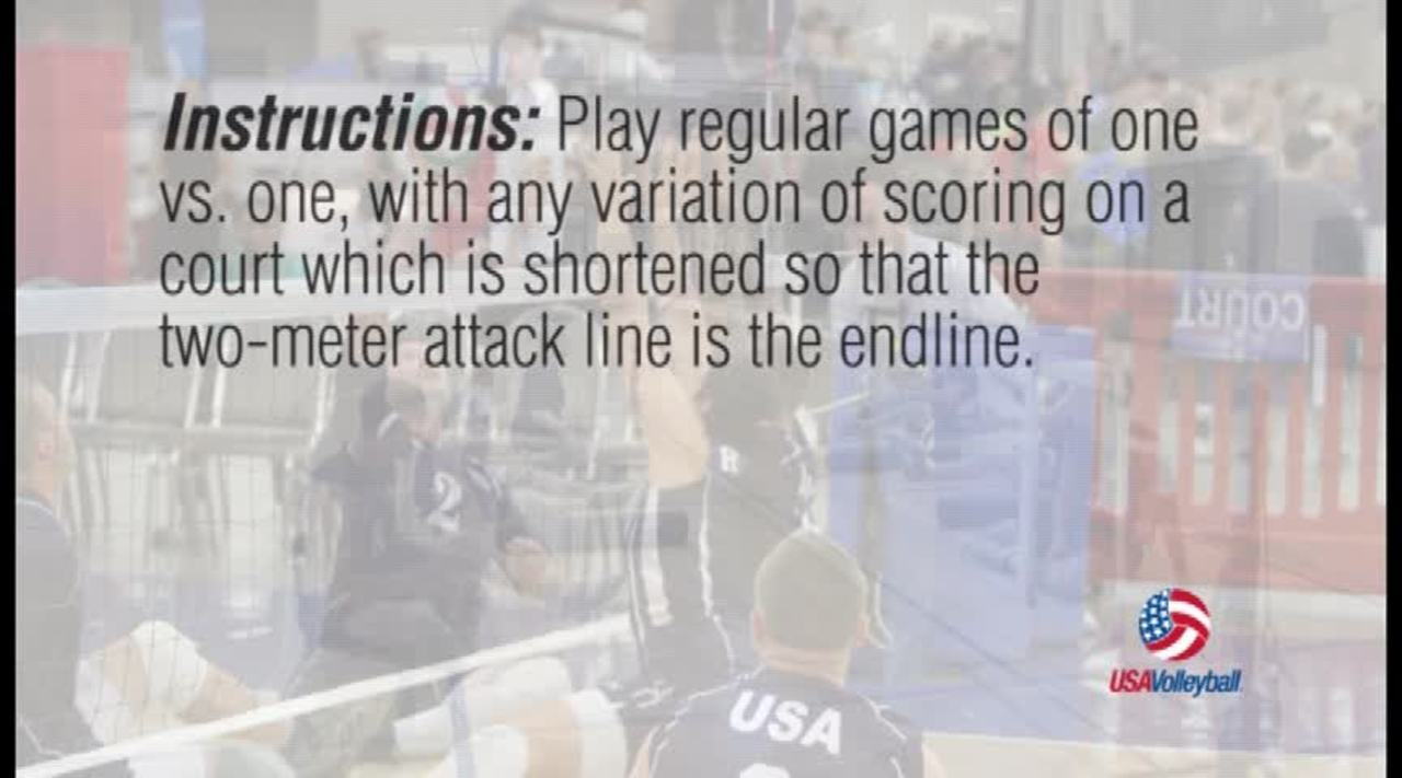 USAV Para Drill Video 1 vs 1 Half Court