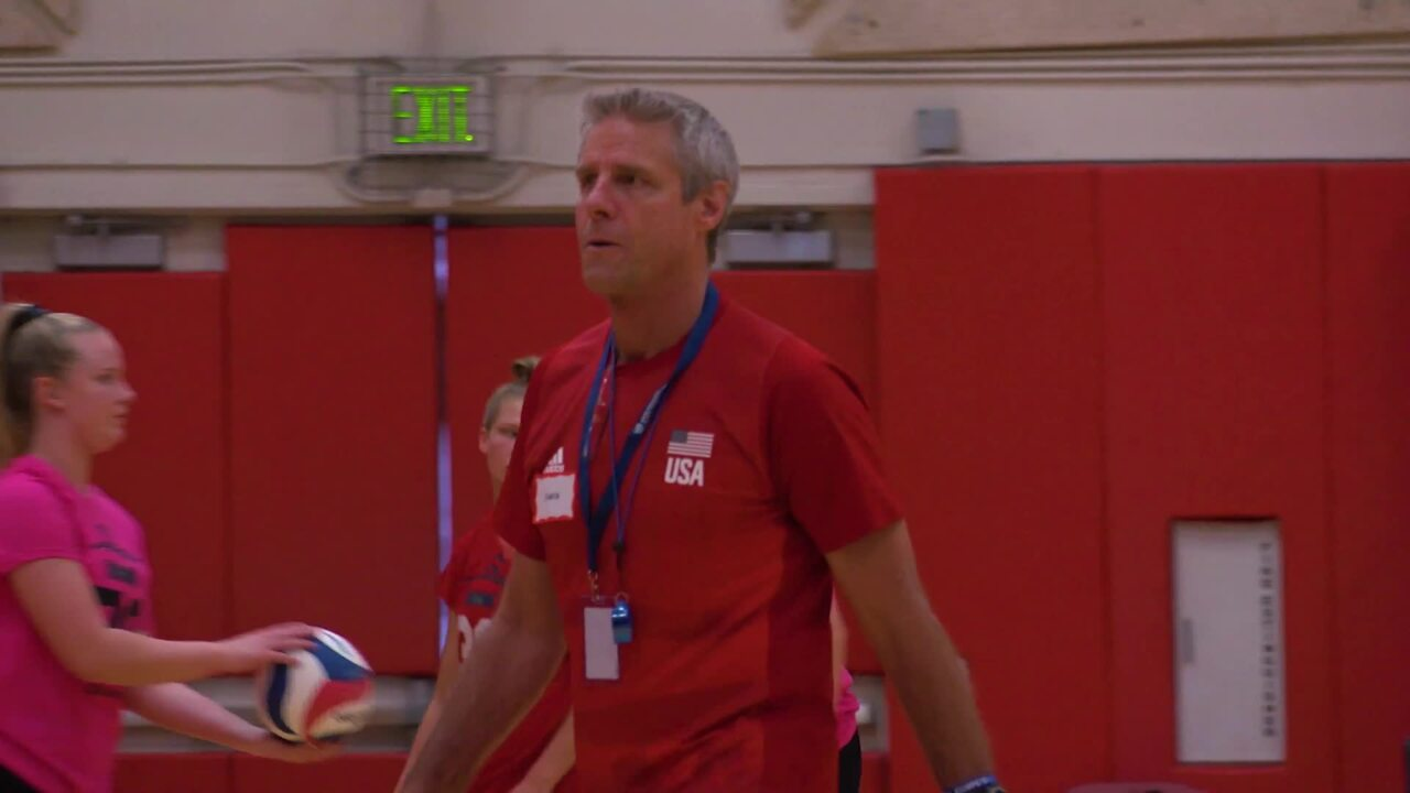 Tryout Energizes Karch Kiraly | U.S. Women's National Team Tryout
