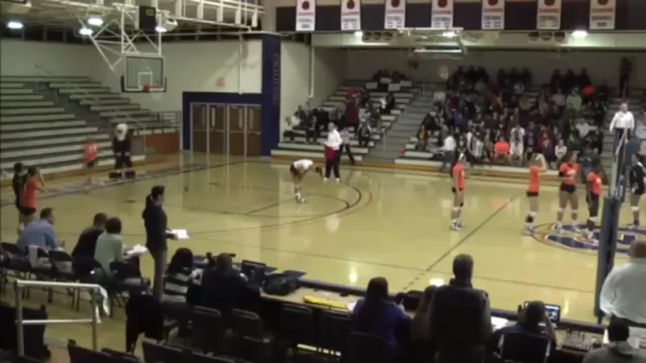 Carson-Newman Volleyball 2013- Incredible under the net save