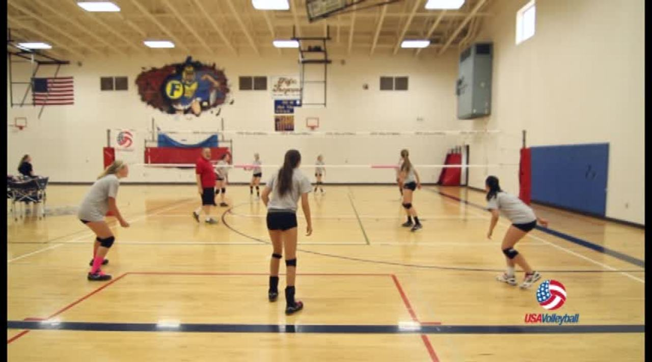 USAV Drill Video 4 on 4 Cooperative