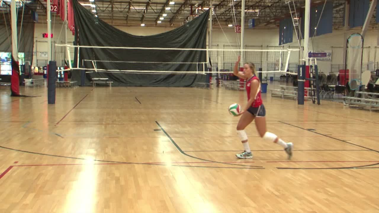 USAV Skill Video Slide Jump Serve