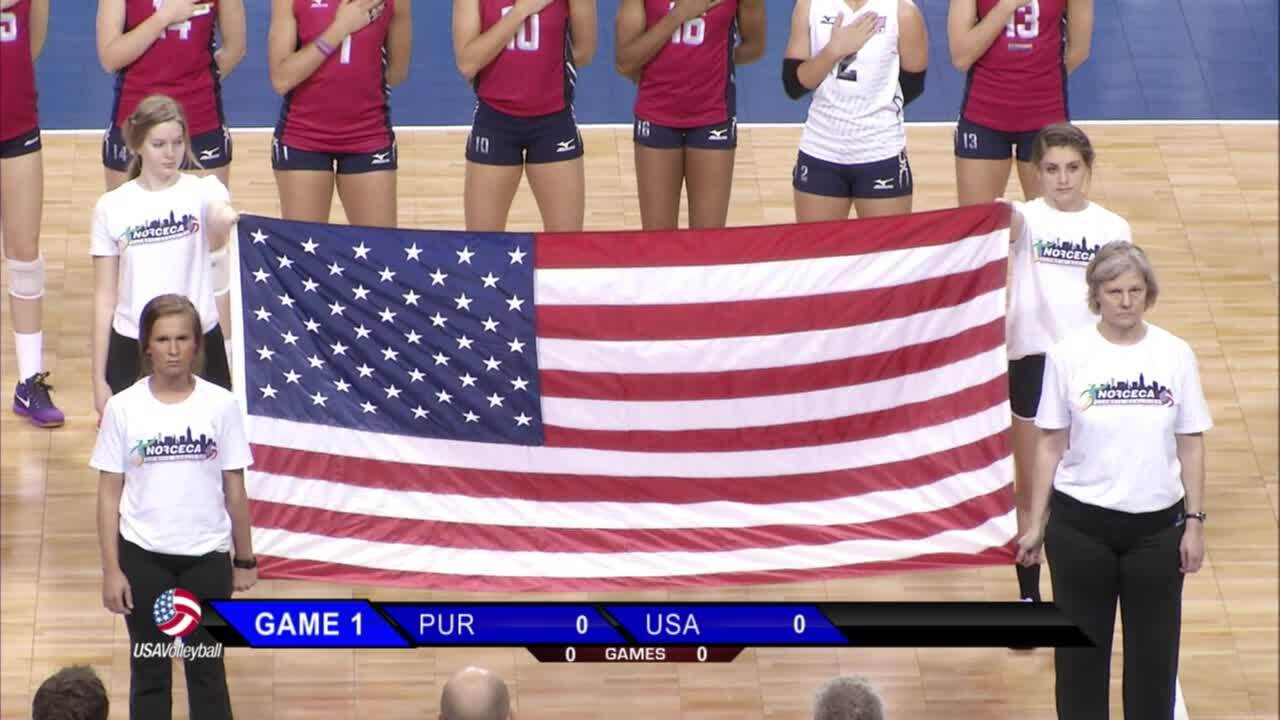 USA vs Puerto Rico 2016 NORCECA Olympic Qualifier | January 8