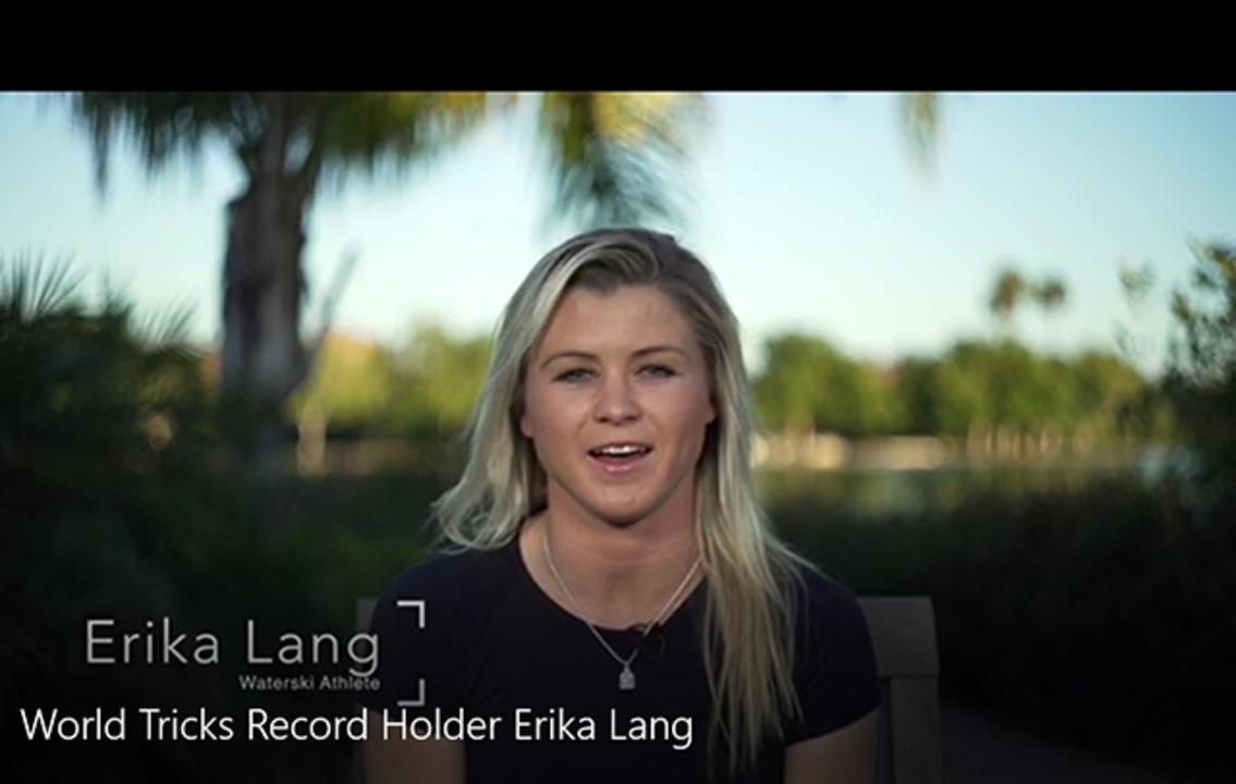 World Tricks Record Holder Erika Lang