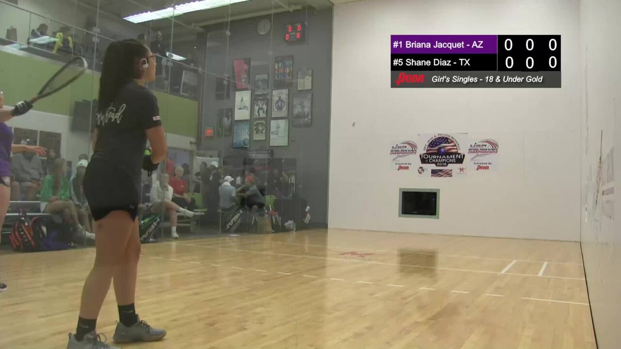 2019 National Junior Olympic Racquetball Championships Girls Singles 18 Under Semifinal