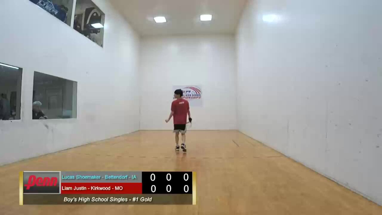 2019 National High School Racquetball Championships Boys Singles #1 Gold