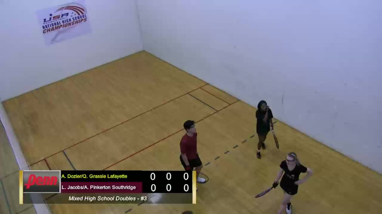 2019 National High School Racquetball Championships Mixed Doubles #3
