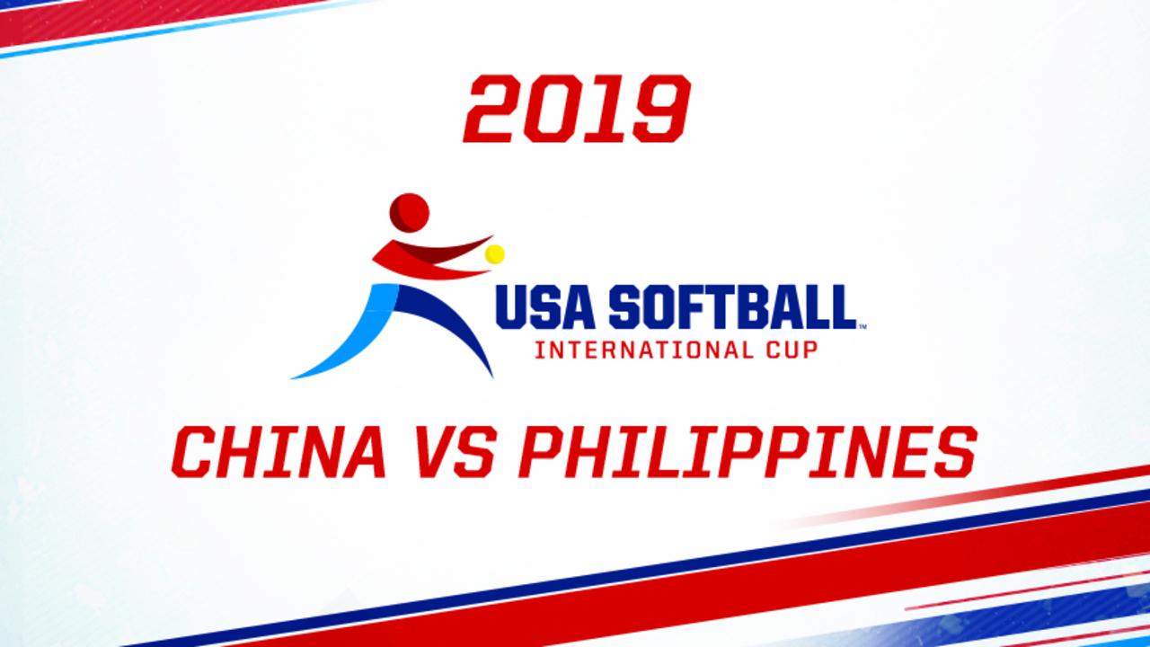 2019 USA Softball International Cup - China vs Philippines