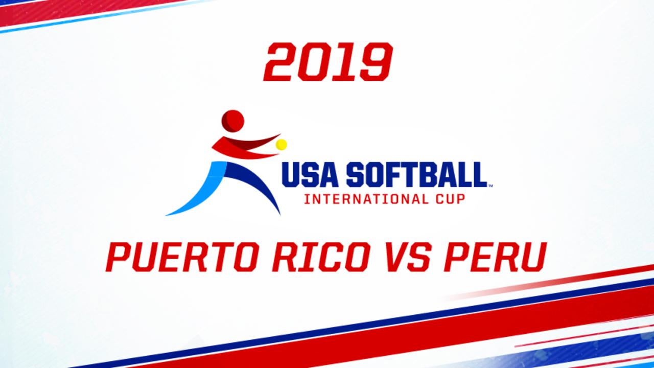 2019 USA Softball International Cup - Puerto Rico vs Peru