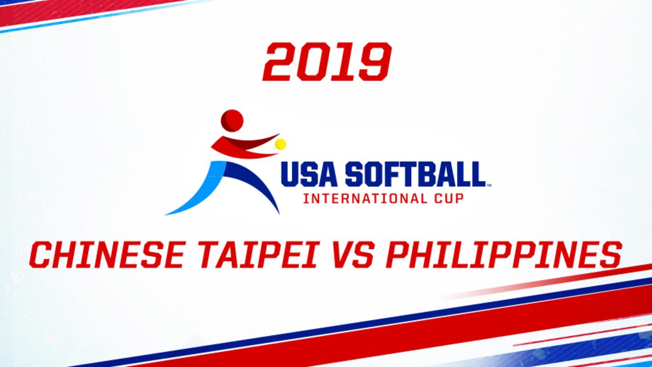 2019 USA Softball International Cup - Chinese Taipei vs Philippines