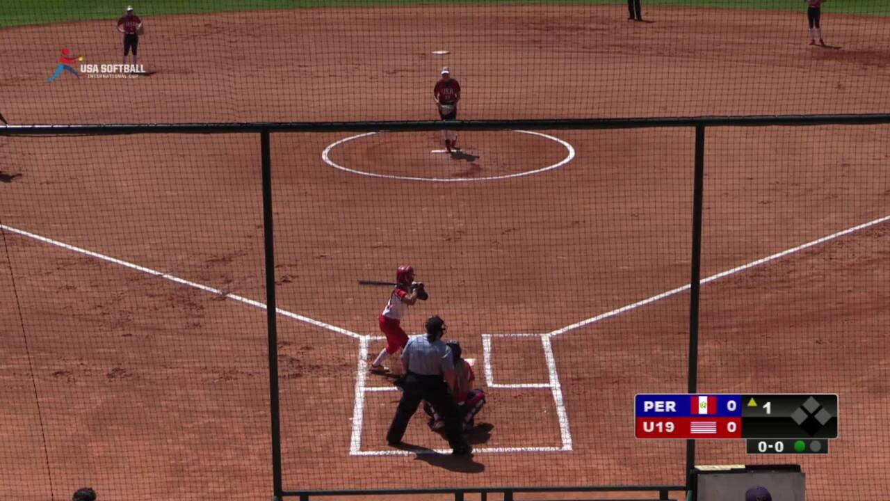 2019 USA Softball International Cup - U19 WNT vs Peru