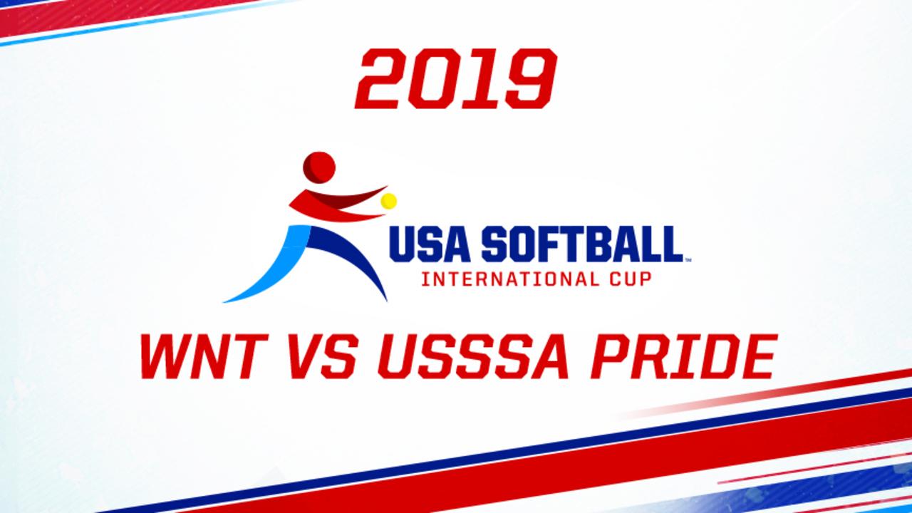 2019 USA Softball International Cup - USA WNT vs USSSA Pride