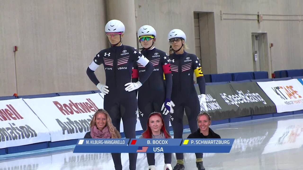 US Ladies win Team Pursuit GOLD at the Four Continents Championships