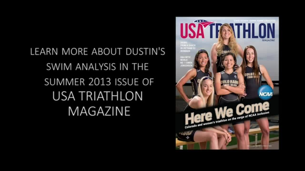 Dustin Breese- USA Triathlon Magazine Case Study: Swim Analysis