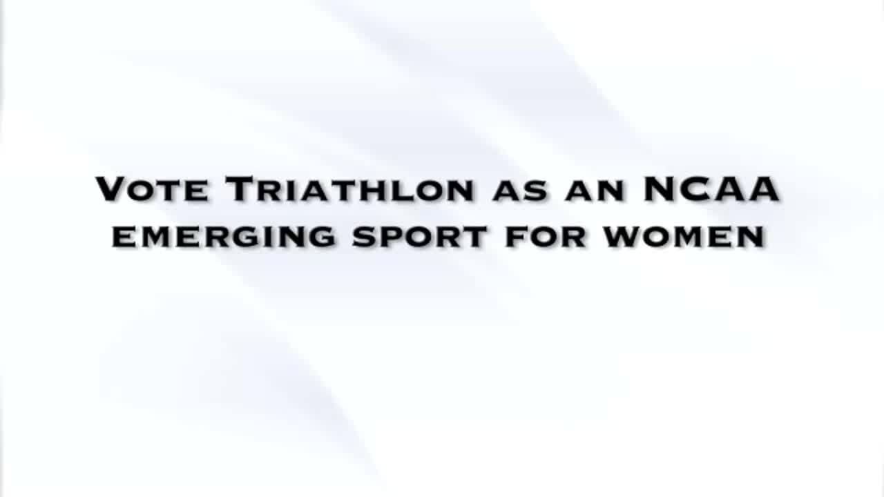 Vote Yes for Triathlon as an NCAA Emerging Sport for Women