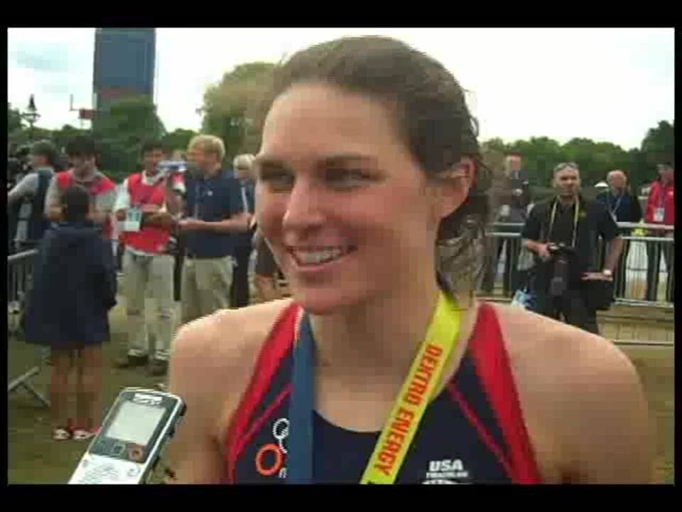 2011 ITU WCS London Gwen Jorgensen Interview