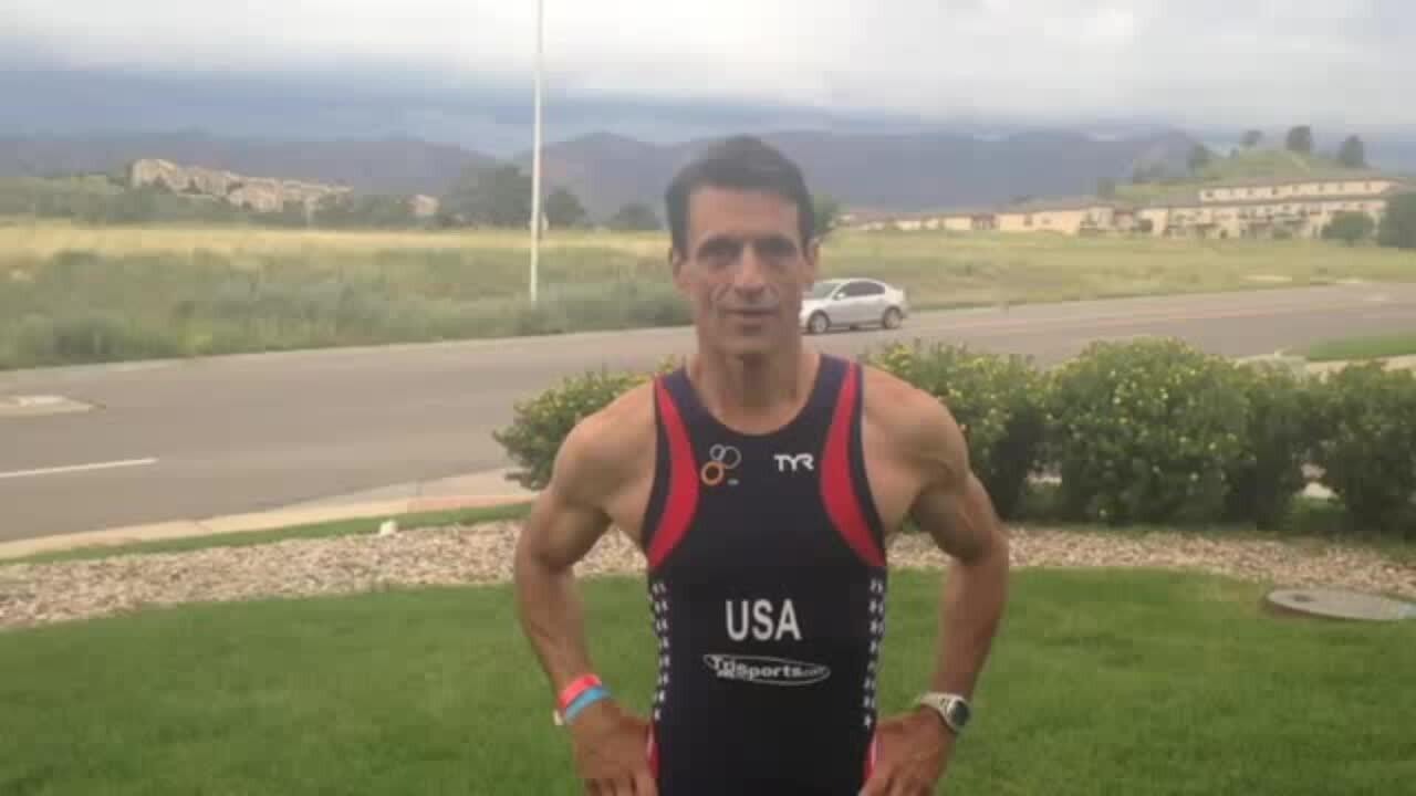USA Triathlon CEO Rob Urbach in the ALS Ice Bucket Challenge
