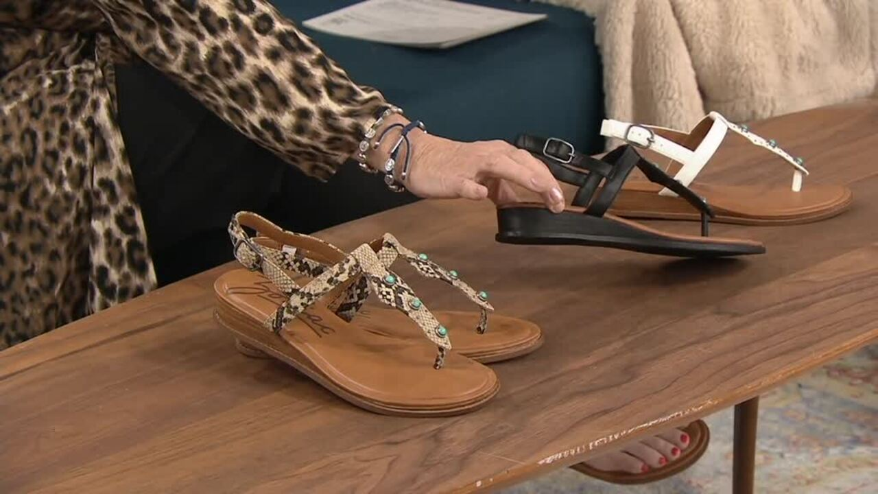 Zodiac Adjustable Thong Sandals