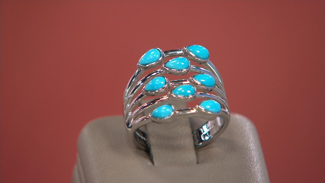 Details about  /Sleeping Beauty Turquoise Gemstone Engagement Ring Sterling Silver Rose Color