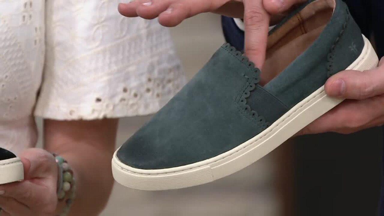 Frye Suede Slip-On Sneakers - Ivy