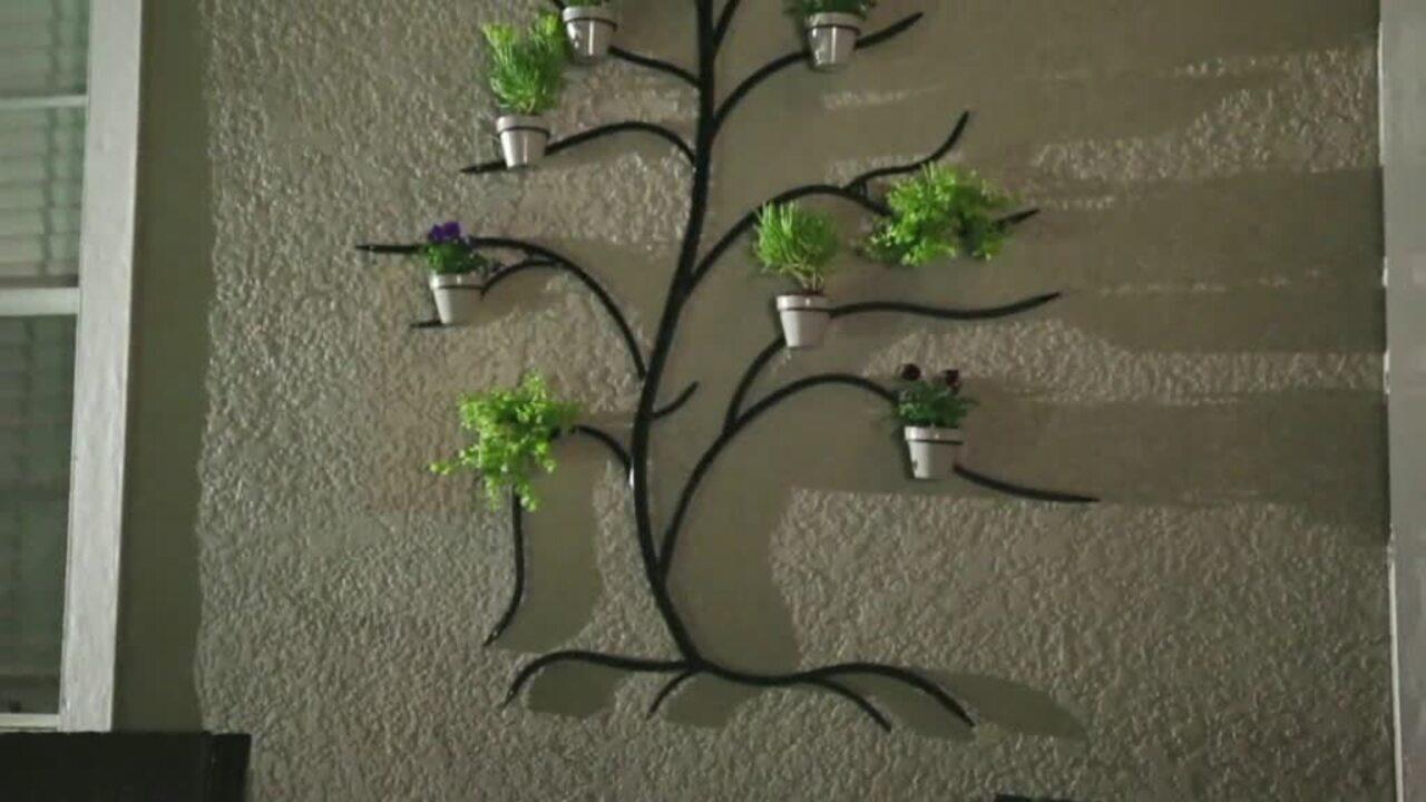 Martha Stewart 71 Metal Tree Wall Decor With Flower Pots Qvc Com