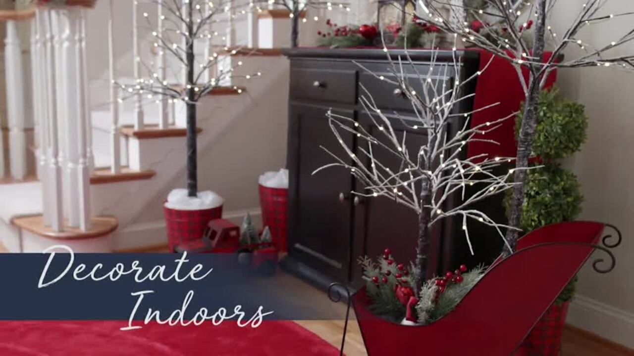 Indoor Outdoor 4 Birch Tree With Lights And Remote By Valerie Qvc Com