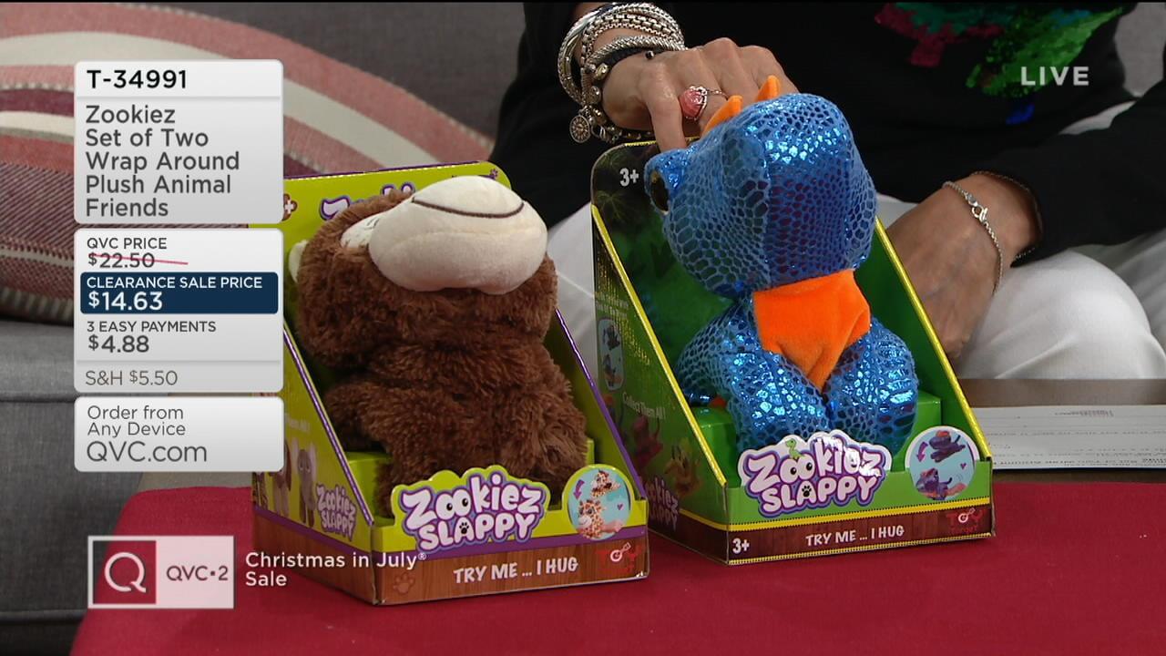 Zookiez Set of Two Wrap Around Plush Animal Friends