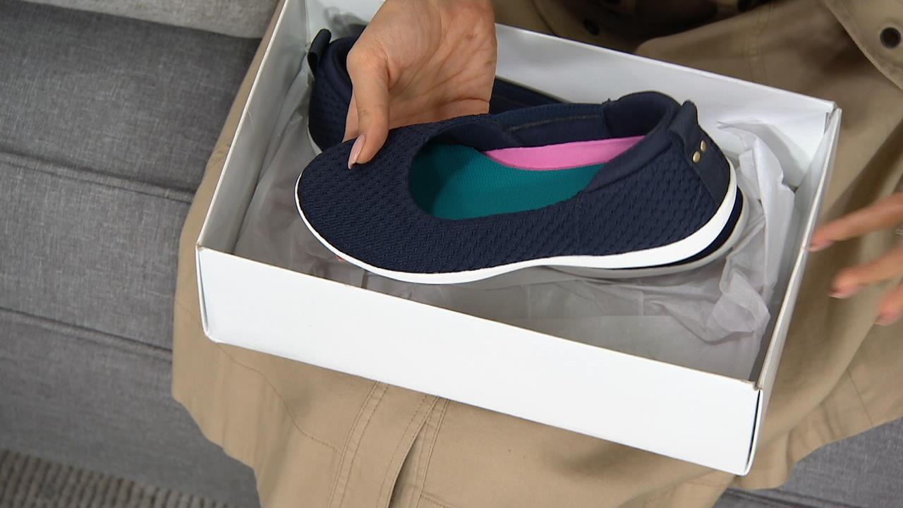 Ryka Knit Slip-On Shoes - Cheri - QVC.com