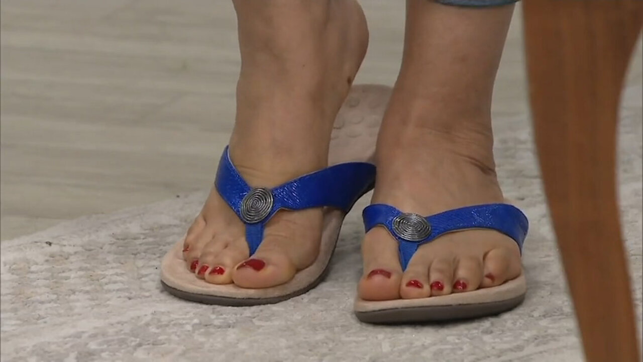 Vionic Woven Thong Sandals with